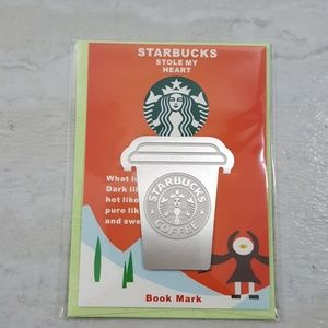 Starbucks Stole My Heart Small Tin Metal Bookmark